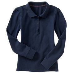 Old Navy Girls Uniform Pique Polos - Dark sea blue (22 BRL) ❤ liked on Polyvore featuring uniform, baby, children, girls and kids