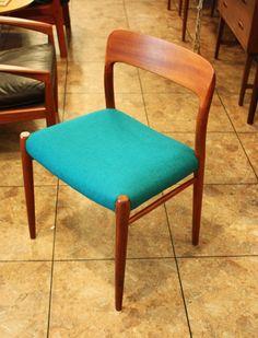 Designed by Neils Moller teakwood side chair