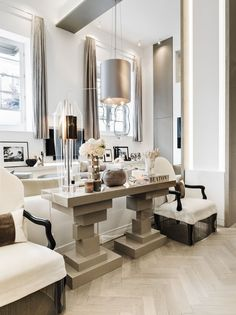 Open Plan in United Kingdom by Kelly Hoppen Interiors