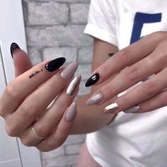 39 Trendy Fall Nails Art Designs Ideas To Look Autumnal and Charming - autumn nail art ideas , fall nail art, short nail Fall Nail Art, Autumn Nails, Dark Nail Designs, Nail Art Designs, Nails Design, Cute Nails, Pretty Nails, Hair And Nails, My Nails