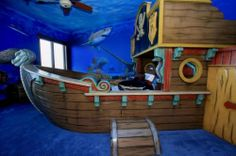 Sunken Pirate Ship Bedroom Theme for my girls pirates and mermaids bedroom