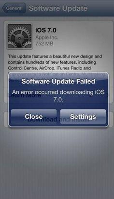 IOS 7 update.