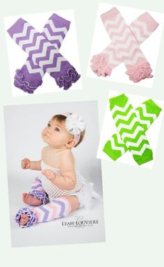 Baby Little Girls Chevron Legwarmers with Ruffles Leg Warmers Easter Spring Pastels by BabyGirlTutus on Etsy