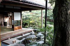 I could see the corner of my contemplation room looking something like this where it meets the outside.