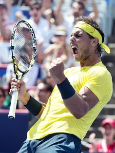 xpatsxjoshx:  HUGE confidence win for Rafa over a tricky opponent in Janowicz! 7-6 (6), 6-4
