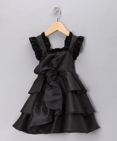 Nesting Baby black tiered taffeta dress for toddlers and girls.... how cute is this!!!!