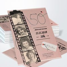 Geburtstagseinladungen Filmstreifen 60 Detail – Invitation Ideas for 2020 Surprise Party Invitations, Fun Wedding Invitations, Birthday Invitations, Birthday Cards, Anniversary Decorations, 50th Wedding Anniversary, Anniversary Gifts, Birthday Design, Girl Birthday