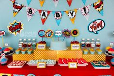From darling invitations and decorations to phenomenal cookies and cakes, these superhero baby shower ideas are totally out of this world!