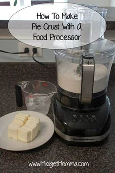 How To Make Pie Crust With A Food Processer Pie Crust From Scratch, Easy Pie Crust, Homemade Pie Crusts, Pie Crust Recipes, Homemade Butter, Pastry Recipes, Banoffee Pie, Food Processor Pie Crust, Recipes