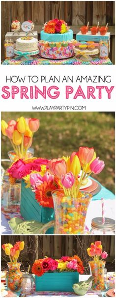 Tips to plan the most amazing spring party, love all of the these gorgeous spring party ideas! #spon