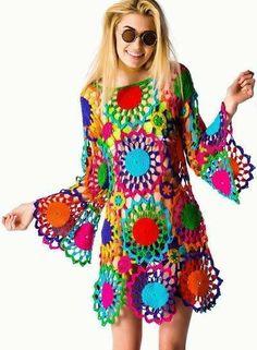 Psych Out Crochet Dress http://outstandingcrochet.blogspot.it/2014/03/psych-out-crochet-dress-from-unif.html?m=1