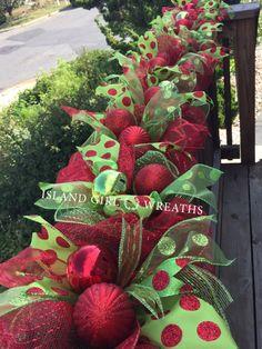 6' Christmas Deco Mesh Garland Christmas by IslandGirlWreaths