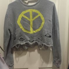 LRG upside down peace sign crop sweater (new) LRG upside down peace sign crop sweater (new) LRG Tops