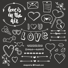 More than a million free vectors, PSD, photos and free icons. Exclusive freebies and all graphic resources that you need for your projects Chalkboard Lettering, Chalkboard Designs, Hand Lettering, Anniversary Scrapbook, Love Doodles, Photo Album Scrapbooking, Diy Gifts For Boyfriend, Scrapbook Journal, Bullet Journal Ideas Pages