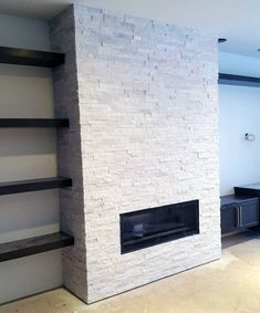 Fireplace Surround Tile Ideas Full Wall Tiled Inset Diy