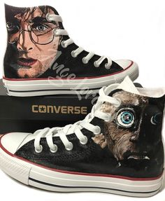 31d8559a3393 58 Awesome Custom painted Converse   Vans by Ange Lord images ...