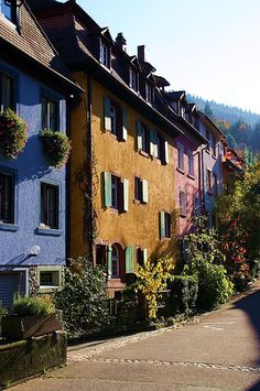 Pastel street by tillwe, via Flickr ~ Freiburg, Baden-Wurttemberg, Germany