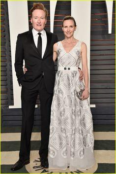 James Corden & Conan O'Brien Bring Lovely Wives to Vanity Fair Oscar Party 2016