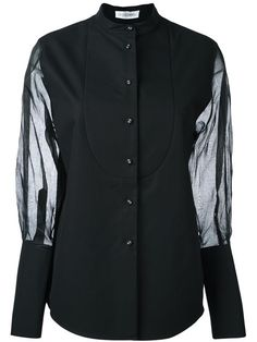 J.W.ANDERSON sheer sleeve buttoned shirt. #j.w.anderson #cloth #shirt