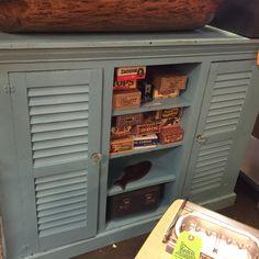 Antique shutter storage  cabinet