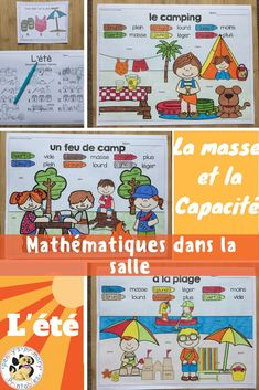 French Summer Math around the room: mass and capacity Engage In Learning, Learning Activities, French Summer, French Resources, World Languages, French Immersion, Math Skills, Teaching Materials, Learn French
