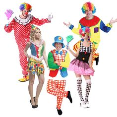 2017 Men Women Circus Clown Cosplay Costume Adults Performance Wear Jumpsuits Masquerade Carnival  Halloween Party Dress Decor
