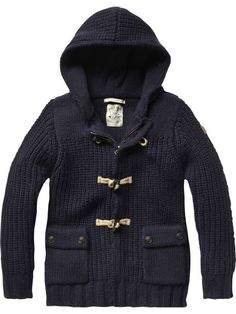 Outdoor cardigan with toggles - Inbetweens - Scotch & Soda Online Shop