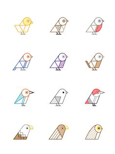 Geometry simple bird illustration - Google 搜尋
