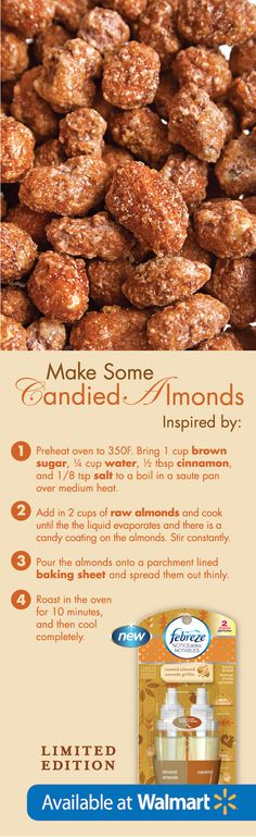 This candied almond #recipe is making me hungry!! #FebrezeHoliday