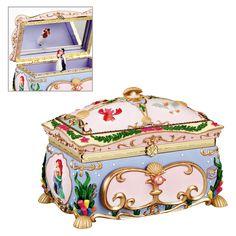Disney Snow White Music Box Jewelry Round Princess Seven Dwarfs 7