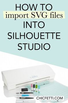 Learn how to import SVG files into Silhouette Studio with this tutorial. Its really easy to import free or paid SVG files into Silhouette Studio. Silhouette Cutter, Silhouette School, Silhouette Vinyl, Silhouette Cameo Machine, Print And Cut Silhouette, Free Silhouette Files, Silhouette America, Silhouette Portrait Projects, Silouette Cameo Projects
