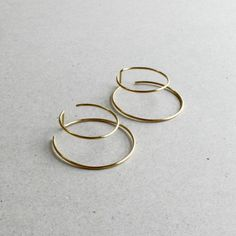 Earrings Design | Double Hoops