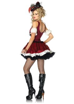 Adult Women Halloween Sexy Pirate Costume Red Cosplay Short Halter Dress Fancy Vintage Clothing Outfit For Girls Plus Size Xl Complete Range Of Articles Sexy Costumes Costumes & Accessories