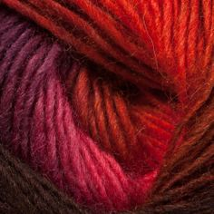 Louisa Harding Amitola yarn blends gently from one color to the next to create stunning self-patterned knits. The silk content makes it beautifully smooth, while the wool is warm and soft. Louisa Harding, One Color, Hair Styles, How To Make, Beauty, Knitting Yarn, Tango, Wool, Hair Plait Styles