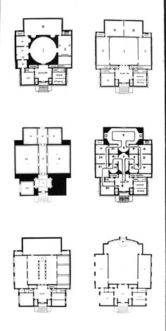Secession Exhibition Building, plans of different exhibitions.