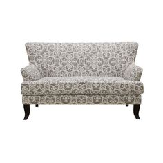 Emerald Home Cordelia Swirl Ash Gray Settee with Curved Wood Legs And Mini Wing Back Silhouette - Just as I expected. Appears to be of good qualitySee product d Living Room Furniture, Home Furniture, Furniture Ideas, Furniture Outlet, Online Furniture, Sunroom Furniture, Furniture Logo, Find Furniture, Furniture Inspiration