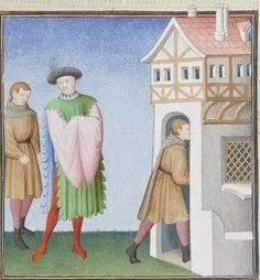 Publius Terencius Afer, Comoediae [comédies de Térence] ca. 1411;  Bibliothèque de l'Arsenal, Ms-664 réserve, 217r