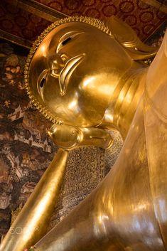 Reclining Buddha, Wat Pho, Bangkok, Thailand Reclining Buddha, Wat Pho, Golden Buddha, Recliner, Bangkok Thailand, Places, Chair, Recliners, Armless Chair