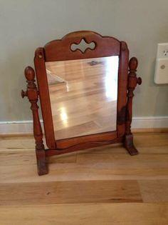 Old Maple Shaving Mirror