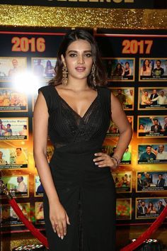 Indian Actress Nidhhi Agerwal At Sakshi Excellence Awards - Beautiful Indian Actress  IMAGES, GIF, ANIMATED GIF, WALLPAPER, STICKER FOR WHATSAPP & FACEBOOK