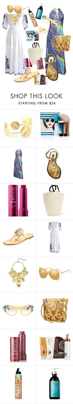 """Vacation mode"" by geyssa-terrero ❤ liked on Polyvore featuring St. Tropez, Dolce&Gabbana, Solid & Striped, Tory Burch, Chicwish, Kenneth Jay Lane, Linda Farrow, Prada, Chanel and Bumble and bumble"