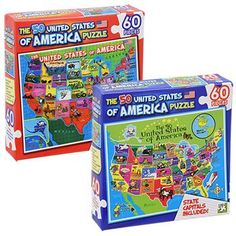 The 50 United States of America Puzzle, 60 pc.