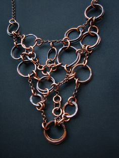Necklace | Jamie Spinello. Oxidized copper.