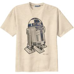 Classic Film Star Wars R2-D2 Robot T-Shirt Tee Organic Cotton Vintage Look Size S M L ($14) found on Polyvore