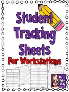 FREEBIE-sheets to track students at workstations
