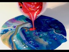 #27 Flip cup and a Swirl in one, Acrylic Pouring - YouTube