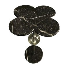 Little Flower - Murano glass and Black fine marble - Italy
