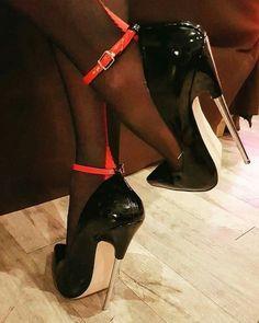 The pleasure of high Heels: Black pumps black pantyhose heels extreme heels wedge heels photography heels photography Super High Heels, Hot High Heels, Sexy Heels, High Heels Stilettos, High Heel Boots, Stiletto Heels, Black Pumps, Heeled Boots, Stockings Heels