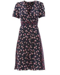 Gucci Bow and heart print tea dress on shopstyle.com
