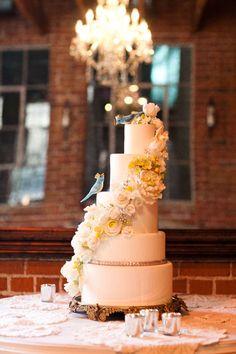 Blue Bird Fantasy Wedding Cake
